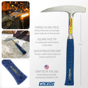 Estwing E3-22P Pointed Tip Prospecting 22oz Rock Pick Hammer