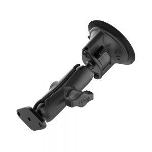 RAM Twist-Lock Suction Cup Double Ball Mount (RAM-B-166U)