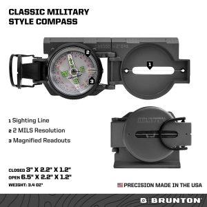 Brunton F-9077 Lensatic Military-Style Compass