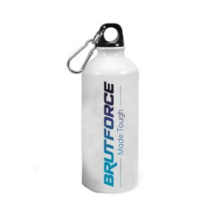 Brutforce Sports Bottle 600ml | Designer Water Bottles | Metal Based with Black Cap and Easy to Hold Grip Sipper