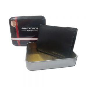 Brutforce Black Leather Wallet for Men|3 Card Slots| 1 Coin Pocket|2 Hidden Compartment|2 Currency Slots with Easy Access Card Container (BFW006)