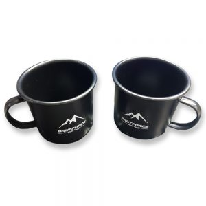 Brutforce (Pack of 2 Unit) Hand-Crafted Steel Enamel Mug for Army, Military, Corporate, Offices and Gifting