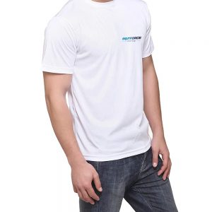 Brutforce White Unisex Round Neck Slim fit Polyster Tshirt