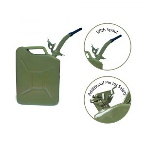 20 LTR. Metal Jerry Can with Spout for Generators, Jeeps and Other Vehicles