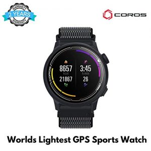COROS PACE 2 Premium GPS Sport Watch with Nylon or Silicone Band, Heart Rate Monitor, 30h Full GPS Battery, Barometer, ANT+ & BLE Connections, Strava, (Navy – Nylon Strap)