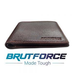 Brutforce Mens Leather 1 Fold Wallet With Brutforce Mobile Popup (BFW003)