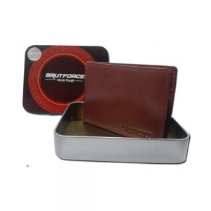 Brutforce Flycatcher Brown Leather Wallet For Men | 1 Coin Pocket|2 Hidden Compartment 1 ID Slot|with Easy Access Card Container (BFW002)